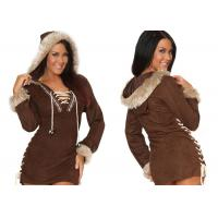 Buy cheap Faux Suede Party Adult Costumes , Sexy Women Daring Eskimo Adult Halloween Costumes product