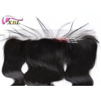 China Brown Lace 13x4 Pre-Plunked Frontal With Hairline And Body Hair Frontal Closure wholesale