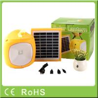 Buy cheap 2600mah lithium solar camping rechargeable led lantern with phone charger product