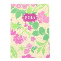 China 2015 Weekly Planner by Paper Craft 4 x 5.5 Inch - Pink Flowers on sale
