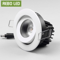 China 10w Office Interior Rectangle 220v Recessed Cob Led Downlight Fixture Cutting 75mm 7.5cm Fire Proof Cob Led Downlights on sale