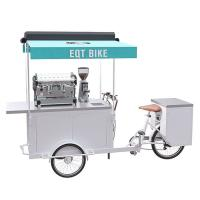 Buy cheap Commercial Tricycle Coffee Cart Pure Steel Body With Long Service Life product