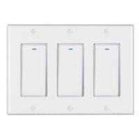 Buy cheap Smart Rohs 600W Wifi Wall Touch Switch US 3 Gang Alexa Light Switches product