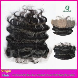 Buy cheap 8A Peruvian virgin  hair silk lace frontal 13