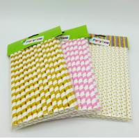 Buy cheap Water Resistance Paper Restaurant Supplies , Colored Paper Straws Eco - Friendly product