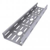 Buy cheap Enamel Paint Ventilated Cable Tray Smooth Edges Grey Color High Durability product