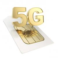 China Custom Made Pvd Coating Service 5G SIM Card / Bank Cards Chip Pvd Gold Plating on sale