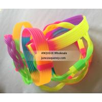 Buy cheap Hot selling custom silicone bracelet, rainbow colors silicone wristband, bracelets product