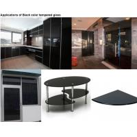 Buy cheap Dark Grey Color Tempered Glass Panels For Glass Cutting Board / Shelves product
