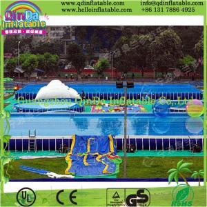 Buy cheap 膨脹可能な水は膨脹可能な水公園の水泳フレームのプールをもてあそびます product