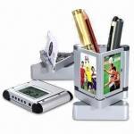 Buy cheap Desktop Pen Holder Combo with Digital Clock, Stock Ready product