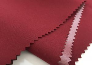 95%polyester 5%spandex 100D 4way stretchblend fabri lamination waterproof worker red color customized fabric