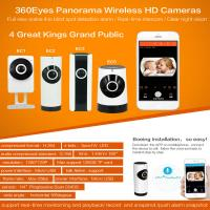 Buy cheap EC5 720P Fisheye Panorama WIFI P2P IP Camera IR Night Vision CCTV DVR Wireless Remote Surveillance on iOS/Android App product