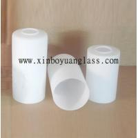 China Milk white Cylinder glass lamp cover wholesale