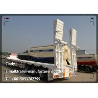 Buy cheap 4 Axle Concave Beam Hydraulic Low Bed Semi Trailer Truck 80 ton - 100 ton product