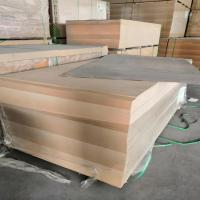 Buy cheap 18mm Laminated MDF Board E2 Formaldehyde Emission Poplar Core For Furniture product