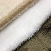 Buy cheap 100% polyester super soft DTY/FDY velboa knitted minky toy plush fabric product