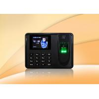 Buy cheap Thumbprint time attendance system biometrics security with SSR report , Scheduled bell from wholesalers