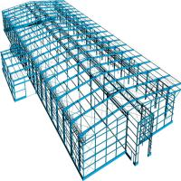 Buy cheap Prefab Portable Steel Frame Workshop Buildings With Light Steel Structure product