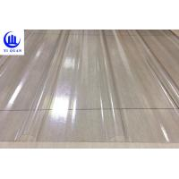 Buy cheap Transparent Corrugated Clear Polycarbonate Roofing Sheets Wave Or Trapezoidal Type product