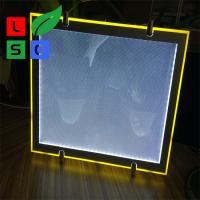 Quality Cool White 8000K LED Crystal Light Box Cable Hanging Store Display Sign for sale