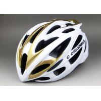 White Golden SV666 PC Inmould Bicycle Helmet , Double Shell , Super Light , CE Certified