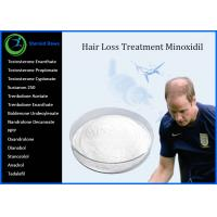 China Pharmaceutical Hair Loss Supplements / Minoxidil White Crystalline Powder , High Pure wholesale