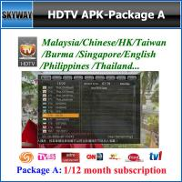 Malaysia Package A,IP9000/HDTV APK Account for android TV BOX