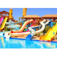 Buy cheap Fiberglass Water Pool Mini Water Park Slide / Amusement Park Slides ISO Certificate product