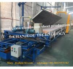 China Foshan wood grain aluminum sheet production line cj-01 on sale