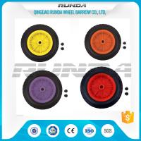 Quality Inflatable Pneumatic Rubber Wheels 16mm Inner Hole Plastic Rim Bush Bearing 3.50-8 for sale