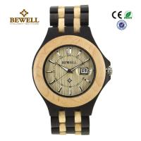Buy cheap Luxury Hand Crafted Wooden Wrist Watch For Groomsmen , Ebony Maple product