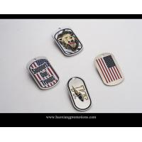 Buy cheap Europe Regional Feature custom wholesale country flag dog tag product
