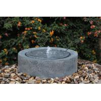China Black Marble Cast Asian Water Fountains In Chinese Stone Mill Shape wholesale