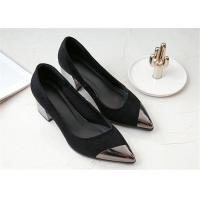 Quality Pointed Metal Toe Comfortable Trendy Shoes Low Cut Sheep Suede Leather Uppers for sale