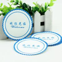 Buy cheap Environmental Water Absorbent Coasters , Disposable Coasters For Drinks product