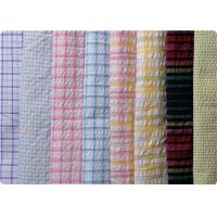 Buy cheap 100% Cotton Yarn Dyed Latccice Plaid Seersucker Fabric For Garment product