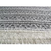 Buy cheap Eco-Friendly Stretch Lace Cotton Spandex Fabric , Beige Elastic Lace Trim CY-LW0220 product