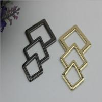 Buy cheap Novelty design triangle pattern gold & gunmetal zinc alloy metal logo plate for shoes accessories product
