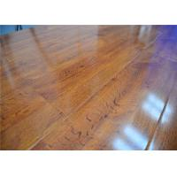 Buy cheap Natural High Density Glueless Wood Decorative Laminate Flooring in Bedroom / Office,Shiny Finish product