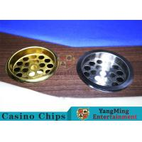 Buy cheap Copper Color Poker Table Accessories , Windproof Stainless Steel Ashtray from wholesalers