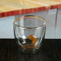 Buy cheap New style 150 ml double insulated mugs borosilicate glass tea cup product