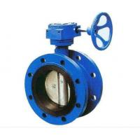 China Double Flanged Cast Steel Butterfly Valve Adjust Tightness With Hand Wheel Dn50 - Dn400 on sale