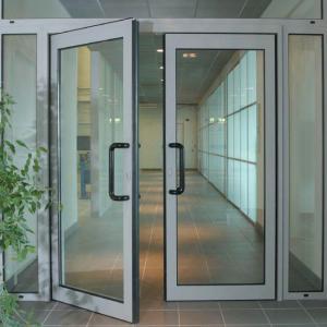 Buy cheap Apartment Aluminum Double Swing Door , Frosted Glass Swing Door Electrophoresis product