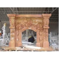 Buy cheap Christmas have fireplace arched stone fireplaces carving flowers product