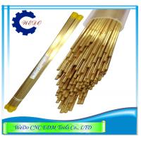 Buy cheap Double Channel  EDM Electrode Pipe / Brass Tube For EDM Drill Machine 0.9x400mm product