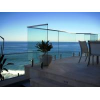 Buy cheap Customized Thickness Laminated Glass Balustrade, Frameless Glass Deck Railing product