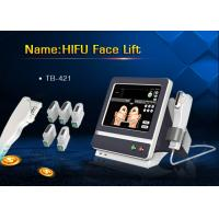 China 5 Handle Treatment HIFU High Intensity Focused Ultrasound Machine for Wrinkle Removal wholesale