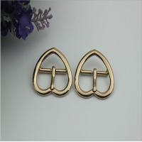 Buy cheap China supplier wholesale light gold 21 mm heart shape metal pin belt buckle for leather handbags product