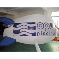 China Phthalate Free Inflatable Advertising Products White Helium Inflatable Airship on sale